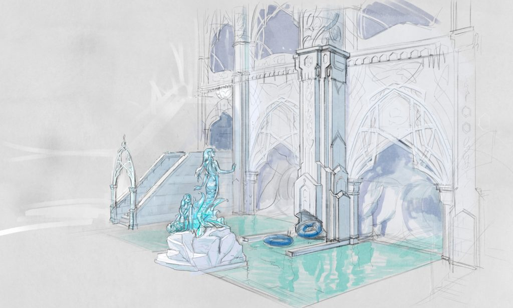 """Mack Solutions fertigte zahlreiche Zeichnungen an, die als Orientierung dienen und in """"Reise nach Rulantica"""" im Europa-Park angeschaut werden können"""