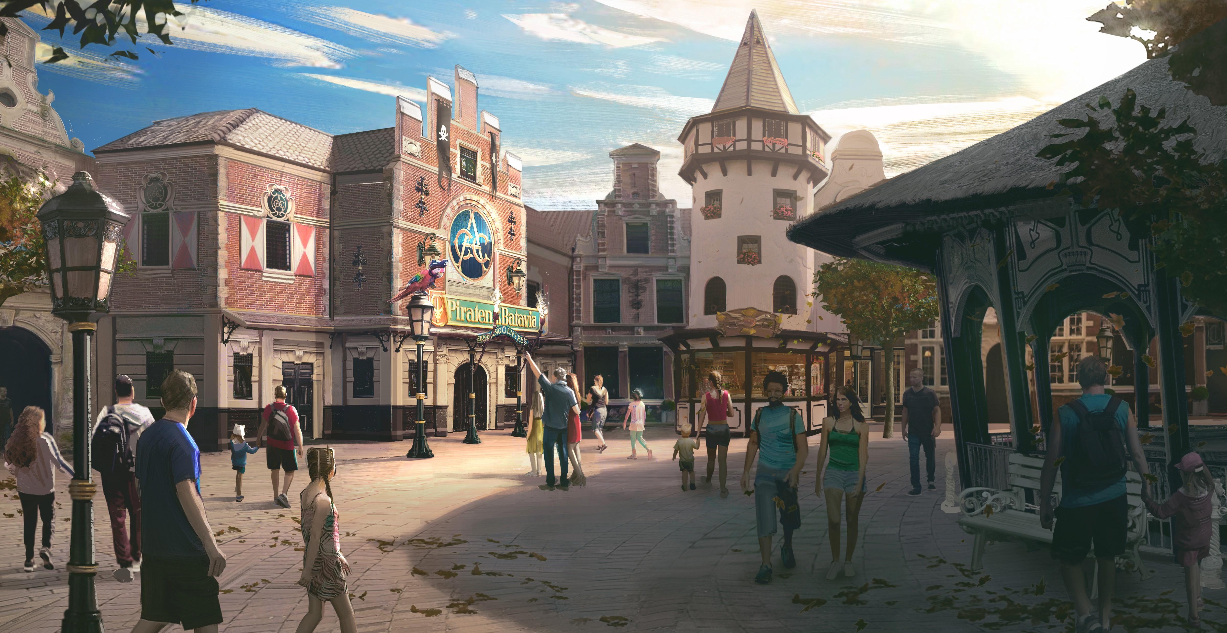 """Eine Illustration zeigt, wie die Fassade der """"Piraten in Batavia"""" künftig aussehen wird"""