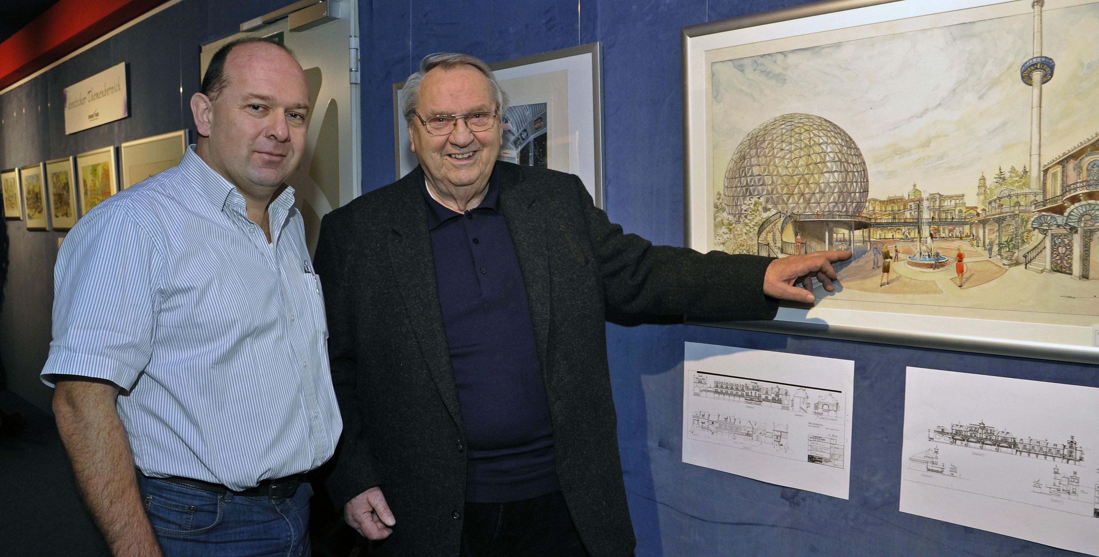 Stephan Hercher und Günther Stumpf, die eng mit dem großen Bühnenbildner Ulrich Damrau zusammengearbeitet haben