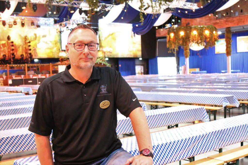 Markus Marciulonis, Betriebsleiter der Eventgastronomie & Sommelier.