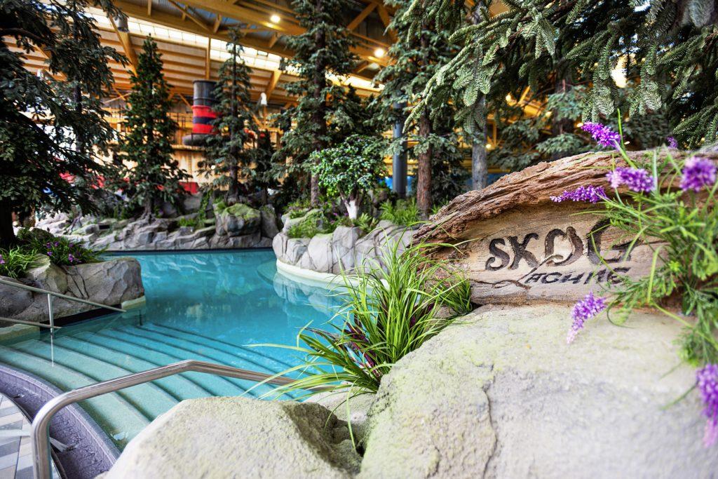 Herrlich entspannen: in der Skog Lagune der neuen Wasserwelt Rulantica.