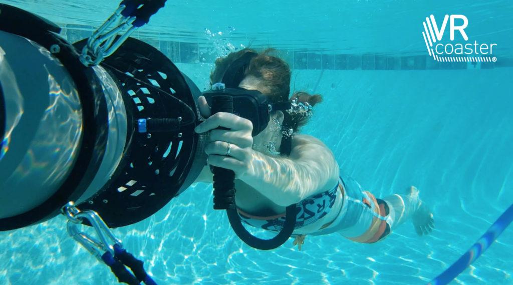 """Mit der Entwicklung des """"Diving Theater"""" bringt das Team rund um Thomas Wagner virtuelle Unterwasserwelten künftig auch in Schwimmbäder und Wasserparks weltweit."""