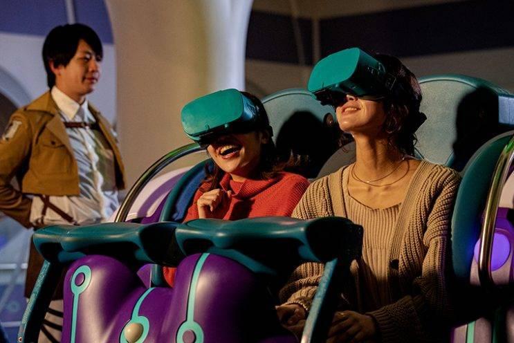 Ein atemberaubendes Erlebnis konnte VR Coaster 2019 auch in den japanischen Universal Studios installieren. (Bildquelle: Universal Studios Japan)