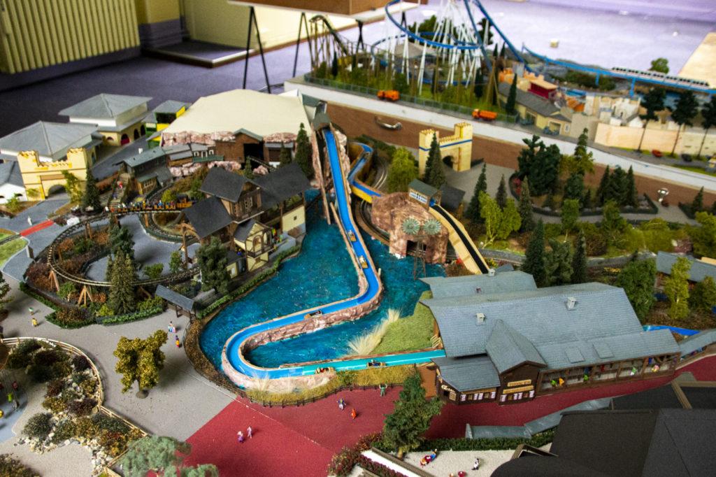 La maquette préférée de Patrick : les Rapides du Tyrol et son quartier autrichien.