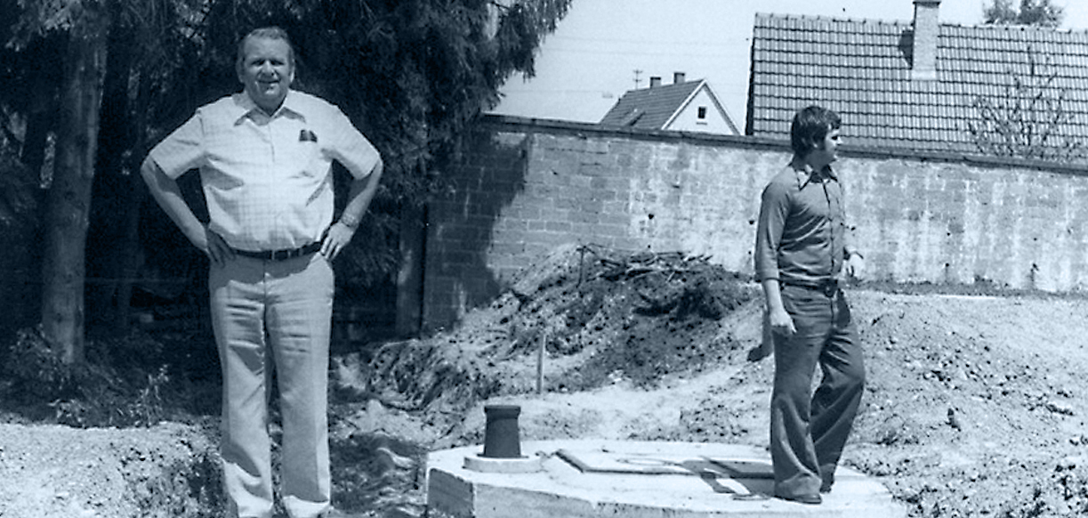 Franz Mack hatte die Entwicklungen auf der Baustelle stets genau im Blick.