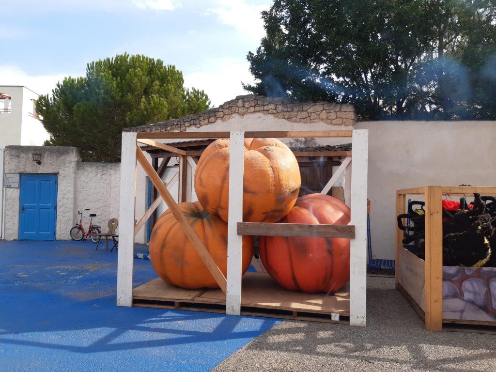 Wo man hinschaut Kürbisse: Die meist orangenen Gewächse bestimmen das Bild von Deutschlands größtem Freizeitpark im Herbst