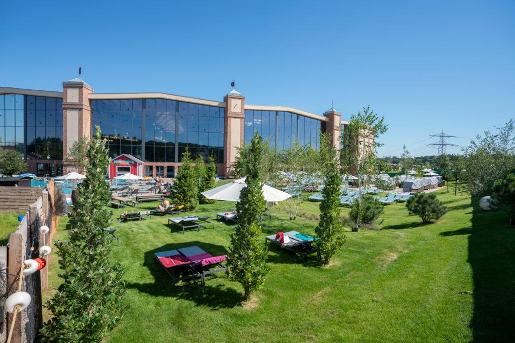 De beaux espaces verts sont une réelle plus-value pour un parc aquatique !