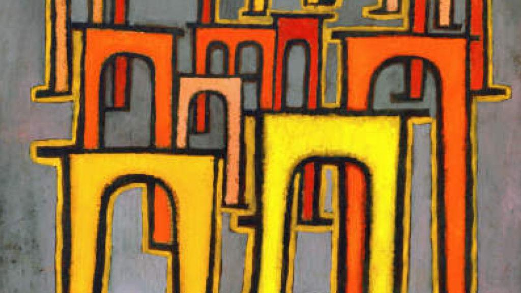 Original Paul Klee: Die Revolution des Viadukts (1937)
